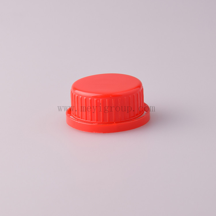38mm red plastic tamper evident screw cap for bottles